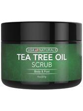 Tea Tree Oil Foot and Body Scrub - Antifungal Treatment, Exfoliating Scrub