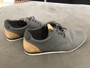 Aldo Men's Aauwen Casual Sneaker Shoes Grey/Tan Size 8 (Used)
