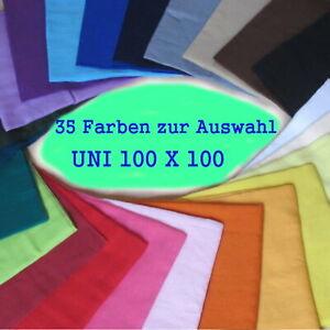 1x Uni Tuch Bandana Kopftuch Halstuch Sommertuch Mundschutz 100x100 Baumwolle