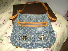 Louis Vuitton Monogram Denim Baggy GM with Long Strap for X-Body or Shoulder
