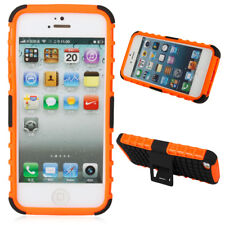 Hard Cover Case Protector Cover Skin with Stand for iPhone 5 Orange
