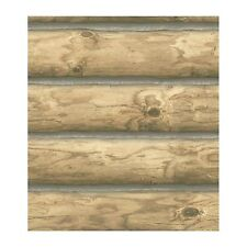 Rustic Cabin Lodge Log Wallpaper CH7977 Priced per 60 sq.ft Roll