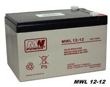 MW-Power AGM Batterie MWL 12-12 VRLA 12V 12Ah (C20) Premium Long Life