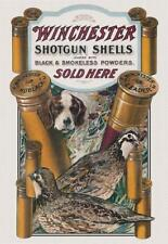 Winchester Dog & Quail Tin Sign 0940