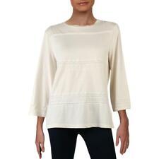 Lauren Ralph Lauren Womens Cotton Crew Neck Blouse Top Shirt BHFO 5720
