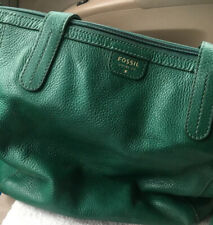 Fossil Emerald Green Hand Bag Leather Issue #1454