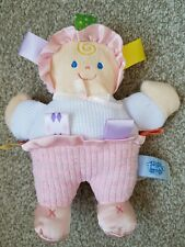 """Taggies Mary Meyer Soft Toy Doll Comforter Doudou 8.5"""" Retired Baby Kids Tags"""