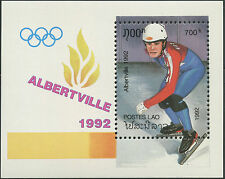 LAOS Bloc N°118** jeux olympiques Albertville 1992, olympic games Sheet MNH