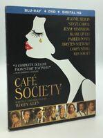 Café Society (Blu-ray+DVD+Digital HD, 2016, 2-Disc Set) NEW w/ Slipcover