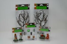 Lemax Spooky Town Halloween Collection Lot Figures Accessories Trees