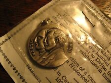 Wright Brothers Medal - Vintage Wilbur Orville Airplane Flight Dayton OH Charm