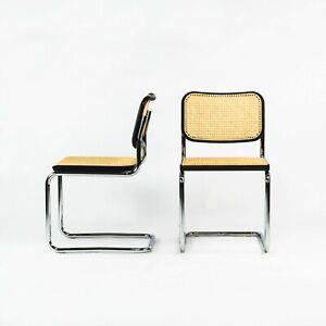 2021 Pair of Marcel Breuer for Knoll Ebonized Beech Cesca Armless Dining Chairs