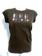 T shirt ADIDAS Taille S 1 36 38 motif voitures manches courtes marron Femme
