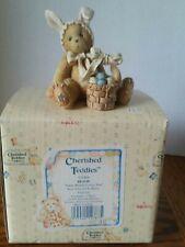 "Cherished Teddies Bessie ""Some Bunny Loves You"" bear dressed as bunny w/basket"