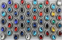 Mixed Jewelry Wholesale Lots 40pcs Oversize Glass Men's Cool Rings Alloy Ring