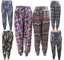 Womens Ali Baba Harem Trousers Pants Leggings Ladies Baggy Hippie New Size 8-16