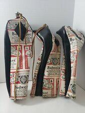 Vintage Budweiser Beer Golf Club Covers Set Of 3