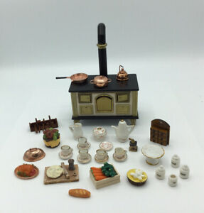 Dolls House Aga With Food And Cookware