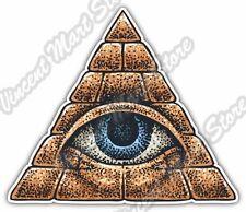 """Mason Freemason Illuminati Eye Providence Car Bumper Vinyl Sticker Decal 4""""X5"""""""