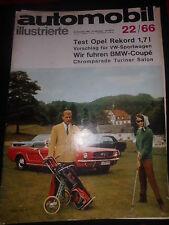 Zeitschrift magazine Auto Mobil Illustrierte Nr.22/66 1966 Test Opel Rekord Auto