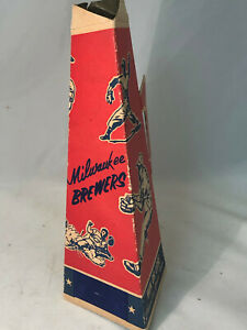 Rare Vintage Milwaukee Brewers 1970 Popcorn Cone Cardboard Megaphone Souvenir