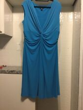 By Chaps Women's Jersey Knit Dress Teal Blue Plus Sz 18 W
