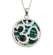 Om Aum Abalone Shell Necklace 18 Inch Tide Jewellery Pendant Gift Box