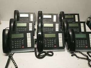 Lot of 9 Toshiba Strata DP-5022-SD Office Display Phone w/ Handsets & Stands
