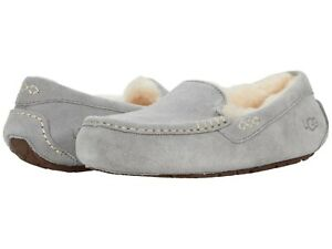 Women's Shoes UGG ANSLEY Indoor/Outdoor Moccasin Slippers 1106878 LIGHT GREY