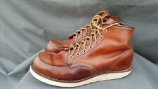 RED WING 875 Brown Leather ORO Legacy Boots Sz-9.5D Made in USA