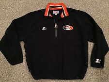 VTG Denver Broncos Starter Pro Line Authentic Navy 1/2 Zip Fleece Pullover Large