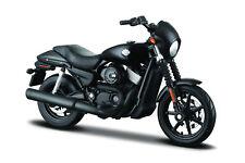 Harley-Davidson 2015 Street 750 Negro 1:12 Modelo de Motocicleta