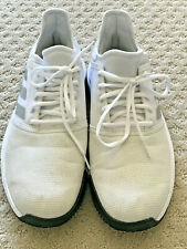 Mens Adidas Game Court Tennis Shoes Size 9 White Grey Gray Black
