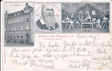 """AK Plauen Vogtland Turner-Vereinshaus Turnhalle """"Jahn"""" 1906"""