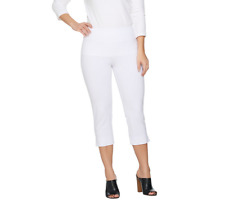 Wicked by Women with Control Regular Pull-on Capri Pants Size M White