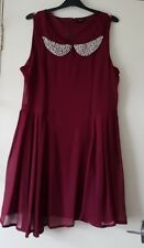 Therapy Beautiful Burgundy Layered Dress with Pearl Beads - Size 16 RRP £45.00