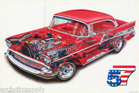 POSTER :TRANSPORTATION: 1957 CHEVY CUT-A-WAY - FREE SHIPPING !  #24-785  RW8 L