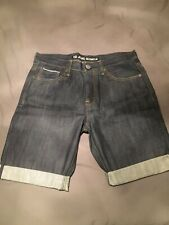VOI Mens Dark Blue Denim Shorts - Waist 34, BNWOT