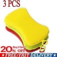 3PCS Silicone Sponge Hygiene Hero Sponge Non-Stick for Kitchen Home Hot