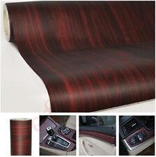 Wood Grain Texture Autos RV Boat Interior Vinyl Sticker Decal Teak Red 2ft x 4ft