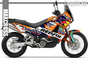 MAXCROSS GRAPHICS KIT DECALS STICKERS FULL KIT FOR ADVENTURE 950 990 STYLE-1