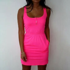 UK Ladies Womens Summer Basic Top Bodycon Casual Cocktail Party Mini Vest Dress