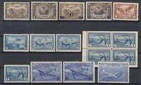 Y4638/ CANADA – AIRMAIL – 1928 / 1947 MINT SEMI MODERN LOT – CV 195 $