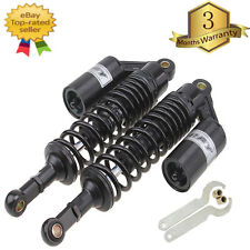 Black 340mm Motorcycle ATV Scooter Air Cylinder Shock Absorber Rear Suspension