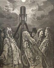 Gustave Doré un animal dans la lune La Fontaine 1868 astronomie astronome .