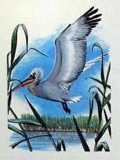 ROMANIA PELLICANO WWF Bird PANEL PASTIGLIA Primo Giorno 1° FDC 3232
