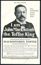 1906 Mackintosh's Toffee John Mackintosh photo vintage print ad