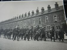 More details for north of england where huge terrace with police band march funeral ? postcard