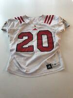 Game Worn Used Louisville Cardinals UL Football Jersey Adidas Size 46 #20