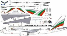 Bulgaria Airbus A-320 decals for Revell 1/144 kit
